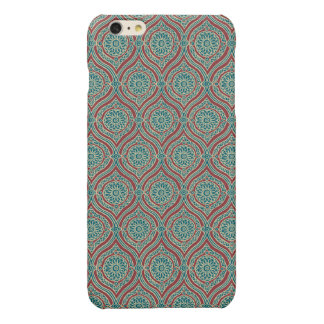 Chic Ethnic Ogee Pattern in Maroon, Teal and Beige iPhone 6 Plus Case