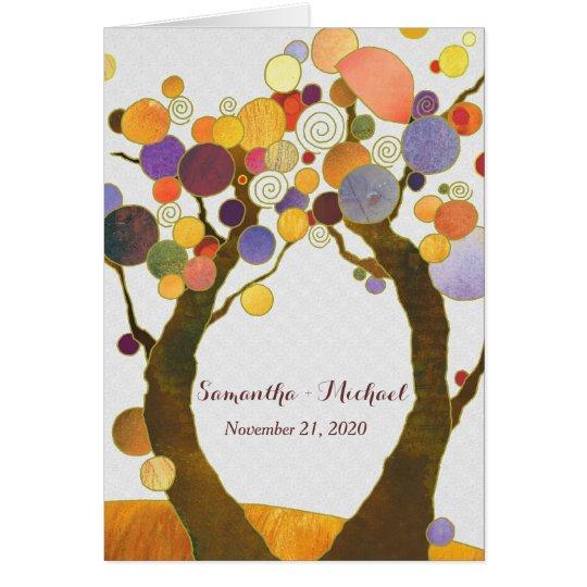 Chic Fall Love Trees Rustic Wedding Invitation