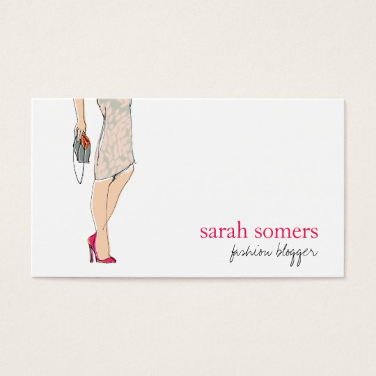 Chic Fashion Blogger Stylish Fashion Model Business Card