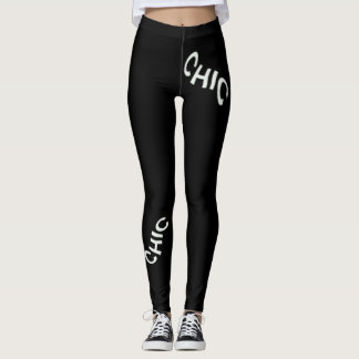 CHIC Fashion Leggings--Women-Black & White Leggings