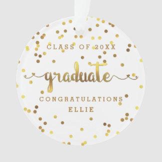 Chic Faux Gold Foil Confetti Graduation Photo