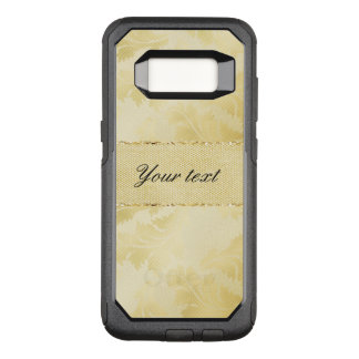 Chic Faux Gold Foil Leaves and Glitter OtterBox Commuter Samsung Galaxy S8 Case