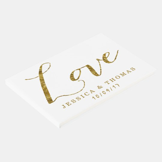 Chic Faux Gold Foil Love Custom Wedding Love