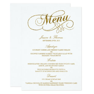 template wedding menu