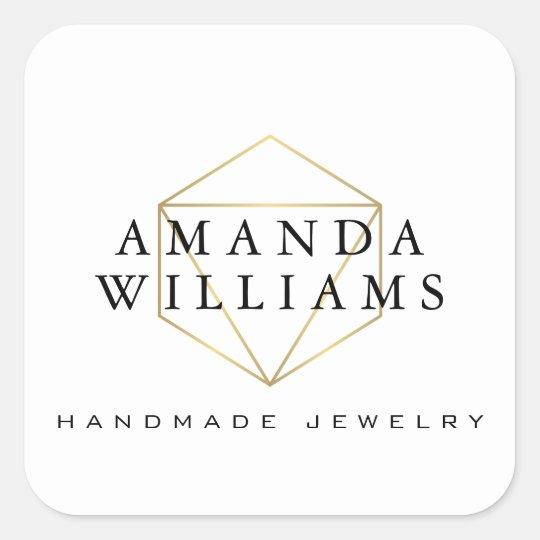 Chic Faux Gold Gemstone Jewellery Designer White Square