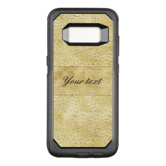 Chic Faux Gold Glitter Chevrons OtterBox Commuter Samsung Galaxy S8 Case