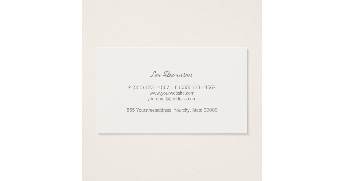 Chic Faux Gold Leaf Circle Grey Business Card : Zazzle