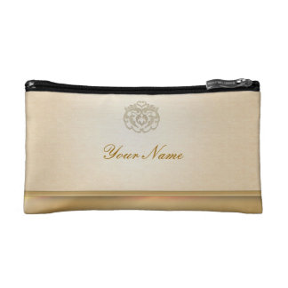 Chic Faux Gold Linen Stamp Clutches