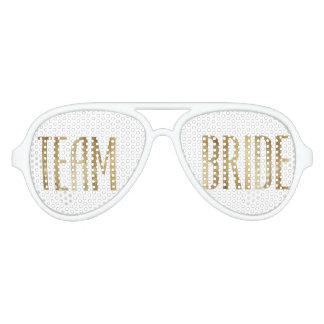 Chic Faux Gold Team Bride Sunglasses