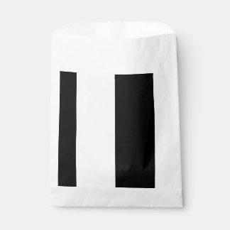 CHIC FAVOR BAG_MODERN BLACK &  WHITE STRIPES FAVOUR BAGS