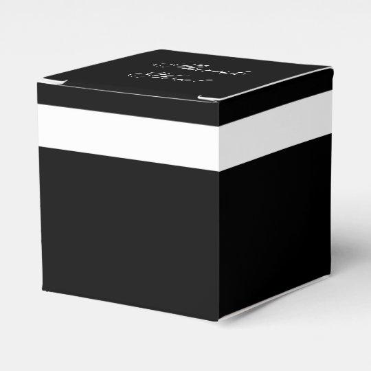 "CHIC FAVOR/GIFT BOX_""Thank You"" BLACK/WHITE Favour Box"
