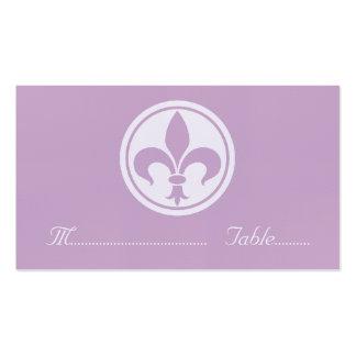 Chic Fleur De Lis Place Card, Lilac Business Card