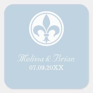 Chic Fleur De Lis Stickers, Blue