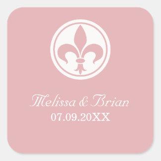 Chic Fleur De Lis Stickers, Pink