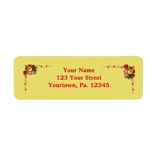 Chic Floral Address Label