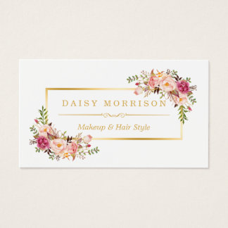 Floral business cards business card printing zazzle uk for Actual beauty salon