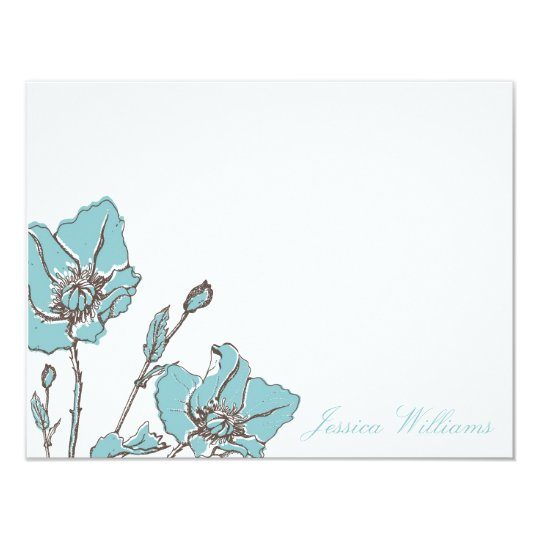 Chic Floral Note Cards