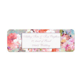 Chic Floral Wedding Romantic Pink Teal Watercolor