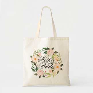 Chic Floral Wreath Mother of the Bride Tote Bag