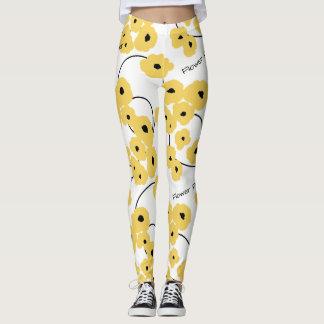 """CHIC """"Flower Power"""" LEGGINGS_MOD FLORAL POPPIES Leggings"""