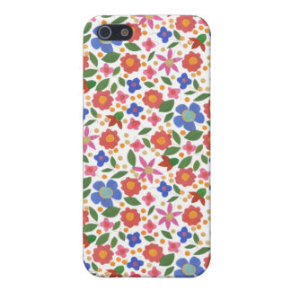 Chic Folk Art Style Floral on White iPhone 5c Case