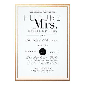 Chic & Formal Bridal Shower | Gold Foil Invite
