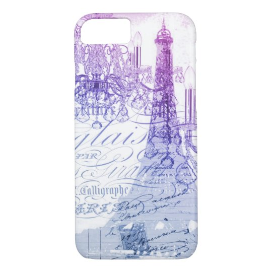 chic french purple chandelier paris eiffel tower iPhone
