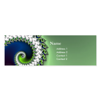 chic geek fractal curly profile card pack of skinny business cards