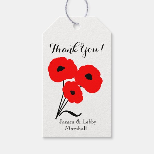 """CHIC GIFT TAG_""""Thank You!"""" 01 RED & BLACK"""