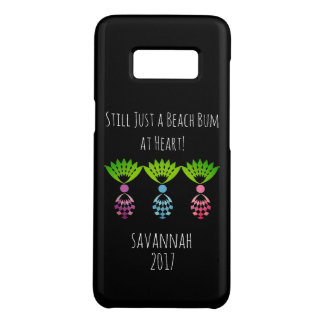 "CHIC GIRLY  ""BEACH BUM"" TROPICAL MOD PINEAPPLES Case-Mate SAMSUNG GALAXY S8 CASE"