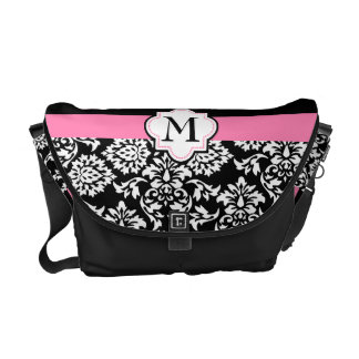 Chic girly damask courier bags
