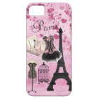 Chic Girly Pink Paris Fashion Barely There iPhone 5 Case