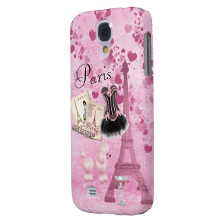 Chic Girly Pink Paris Vintage Romance Galaxy S4 Case