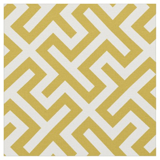 Chic gold and white abstract geometric pattern fabric