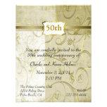 Chic Gold Anniversary Invitation