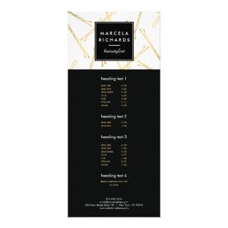 Chic Gold Bobby Pins Hairstylist, Hair Salon Full Colour Rack Card