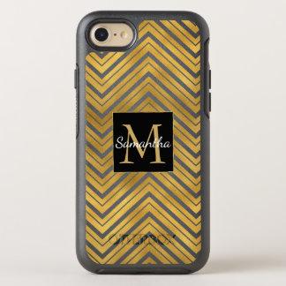 Chic Gold Chevron Monogram OtterBox Symmetry iPhone 8/7 Case