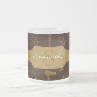 Chic Gold Coco Brown Custom Mugs