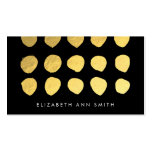 Chic Gold Dots Black Business Card