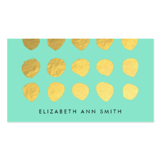 Chic Gold Dots Mint Business Professional Card Pack Of Standard Business Cards