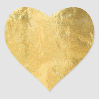 Chic Gold *Faux* Foil Heart | Stickers