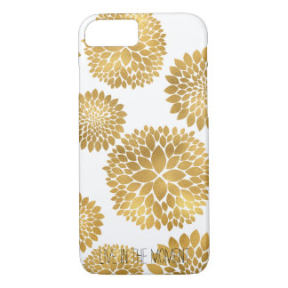 Chic Gold Flowers iPhone 8/7 Case