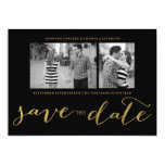 CHIC GOLD FOIL HANDWRITTEN | PHOTO SAVE THE DATE PERSONALIZED ANNOUNCEMENT