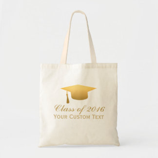 Chic Gold Foil Trendy Graduation Class of 2016 Budget Tote Bag