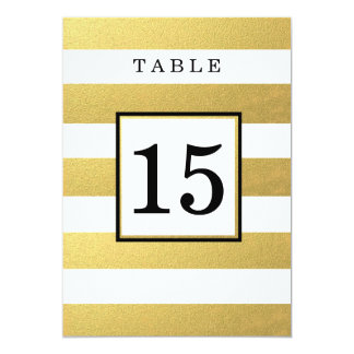 CHIC GOLD FOIL WEDDING TABLE NUMBER CARDS 13 CM X 18 CM INVITATION CARD