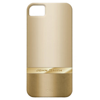 Chic Gold Foil with Custom Name iPhone 5 Case