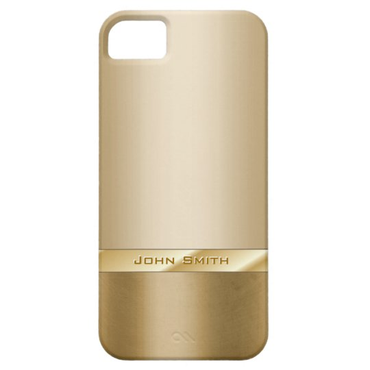 Chic Gold Foil with Custom Name iPhone 5