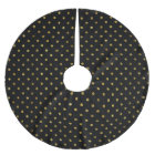 Chic Gold Glam and Black Dots Brushed Polyester Tree Skirt