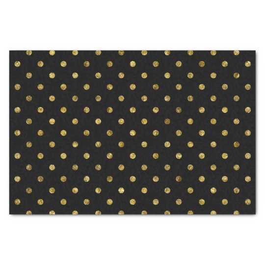 Chic Gold Glam and Black Polka Dots Tissue
