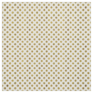 Chic Gold Glam Dots Fabric